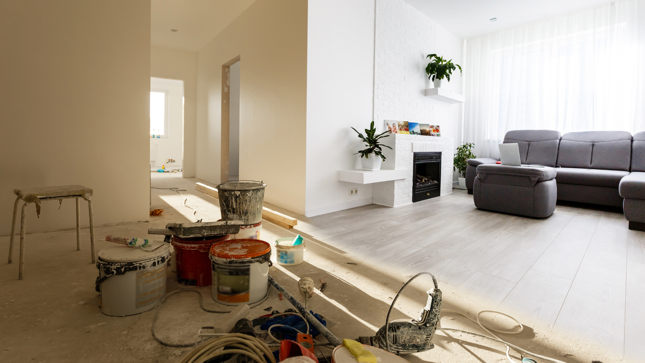 The before and after transformation of a renovation